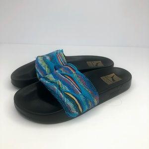 Puma x Coogi Multi/Black Knit Atoll Slides Sandals